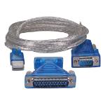 Cablenet 2m USB 2.0 Serial DB9/25 Converter