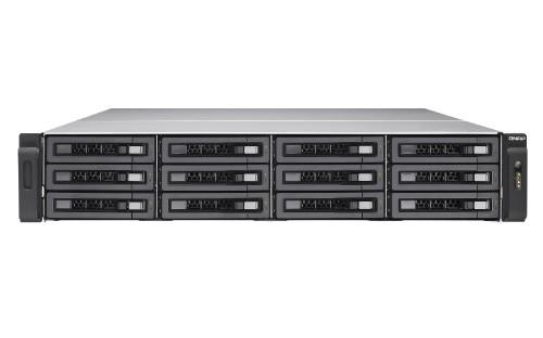 QNAP TS-EC1280U R2 Ethernet LAN Rack (2U) Aluminium,Black NAS