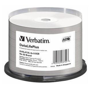 Verbatim DataLifePlus 8.5 GB DVD+R DL 50 pc(s)