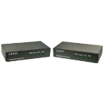Lindy 38403 Network transmitter & receiver Black
