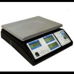Posiflex Minerva 56 PPI Báscula electrónica de cocina Negro, Acero inoxidable Encimera Rectángulo