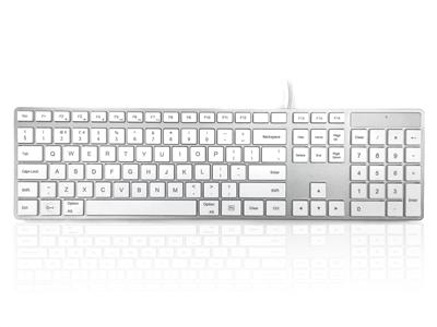 Accuratus KYBAC301-USBMACW keyboard USB UK International White
