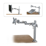 Lindy 40696 flat panel desk mount Silver