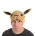 Pokémon Eevee Face & Ears Cuffless Beanie, One Size, Brown (KC1TEWPOK)