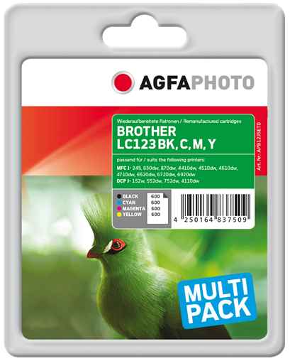 AgfaPhoto APB123SETD 600pages 600pages Black, Cyan, Magenta, Yellow ink cartridge