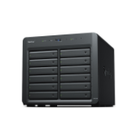 "Synology DX1215II storage drive enclosure HDD/SSD enclosure Black 2.5/3.5"""