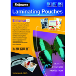 Fellowes A4 Pre-Punched 80 Micron Laminating Pouch