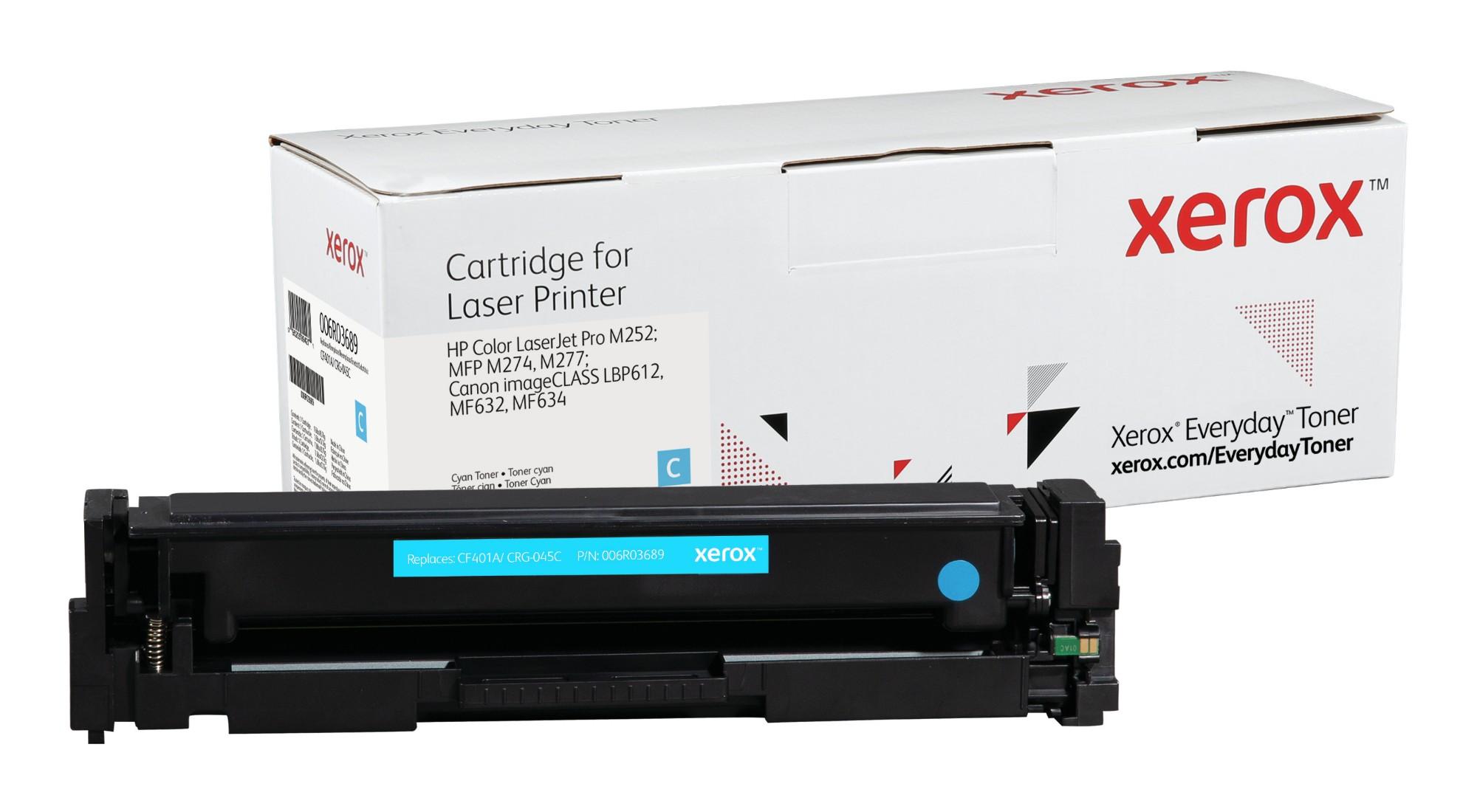 Xerox Tóner de Rendimiento estándar Cian Everyday, HP CF401A/ CRG-045C equivalente de , 1400 páginas