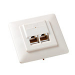 Equip Outlets Flush Mounted Cat.5e, 2-Port, pearl white, 5er Box