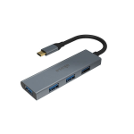 Akasa AK-CBCA25-18BK interface hub USB 3.0 (3.1 Gen 1) Type-C 5000 Mbit/s Grey