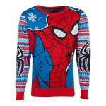 Marvel Spider-man Knitted Christmas Sweater, Unisex, Extra Extra Large, Multi-colour (KW104560MVL-2XL)