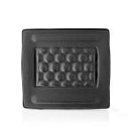 Nedis ERGOGBS100BK backrest Padded backrest Black Fabric,Foam