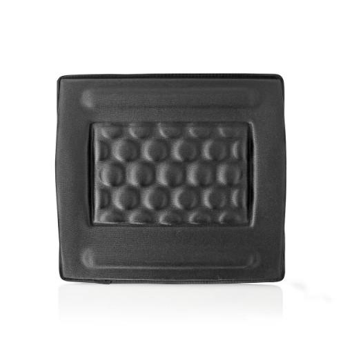 Nedis ERGOGBS100BK backrest Padded backrest Black Fabric, Foam