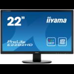 "iiyama ProLite E2282HD-B1 21.5"" Full HD TN Black computer monitor LED display"