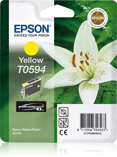 Epson Lily inktpatroon Yellow T0594 Ultra Chrome K3