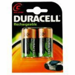 Duracell Rechargeable C Size 2 Pack Nickel-Metal Hydride (NiMH) 2200mAh 1.2V rechargeable battery