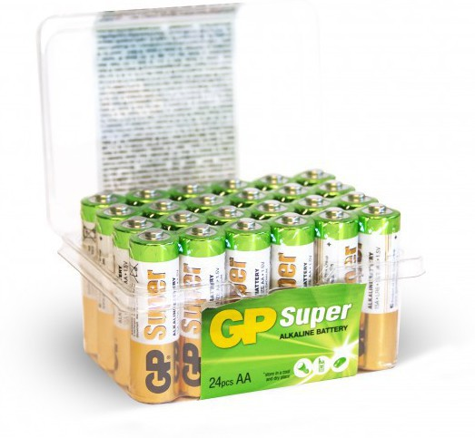 GP Batteries GP Super Alkaline AA-battery Bundle of 24 batteries. 1,5V High quality batteries for ev