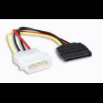 Manhattan SATA Power Cable, 4 Pin to 15 Pin, 16cm, Polybag
