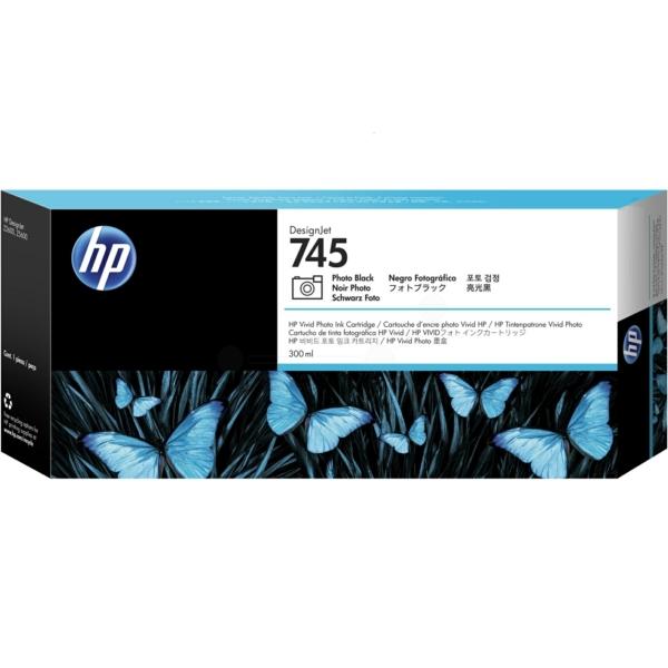 HP F9K04A (745) Ink cartridge bright black, 300ml