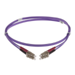 NENCO 4-DX-LC-LC-3-HVT fibre optic cable 3 m LSZH OM4 Violet