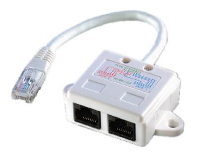 VALUE T-Adapter. Cat5e. UTP. White