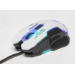Manhattan Gaming Wired Mouse, White, Adjustable DPI (800, 1200, 1600 or 2400dpi), USB, Optical, LED lighting, Six Button with Scroll Wheel, Low friction base, Blister