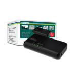 Digitus N-Way 5-port Unmanaged Fast Ethernet (10/100) Black