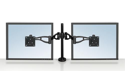 Fellowes 8041701 Black flat panel desk mount