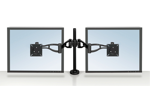 Fellowes 8041701 flat panel desk mount Black