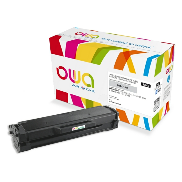 Armor K15554OW compatible Toner black, 1.5K pages @ 5% coverage, Pack qty 1 (replaces Samsung 101)