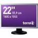 """Wortmann AG Terra 2230W PV, Greenline Plus 22"""" Black, Silver"""