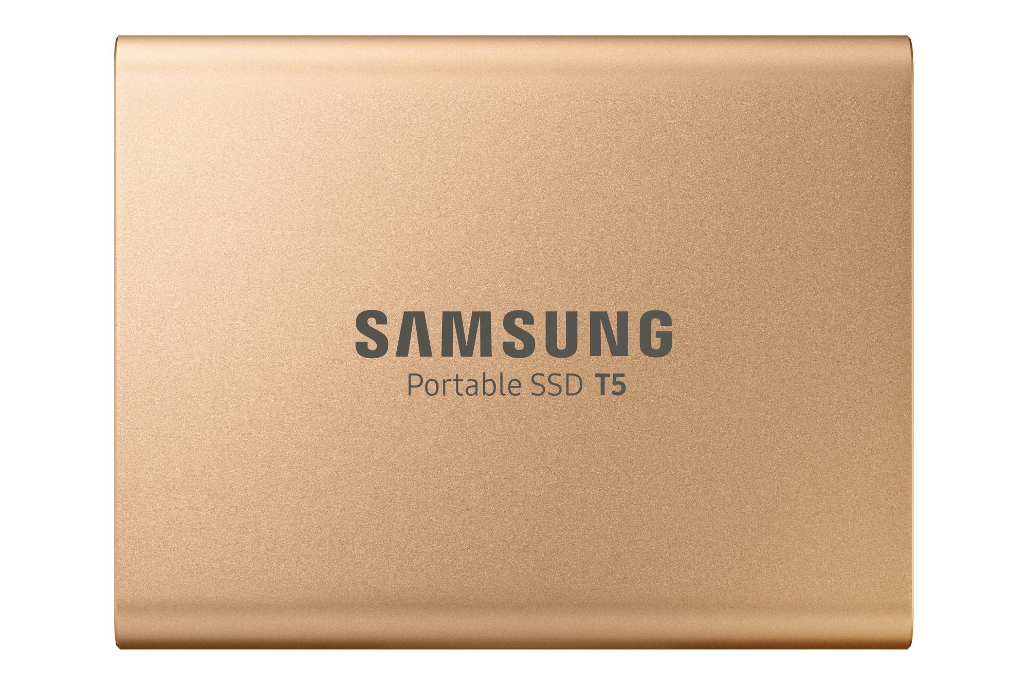 Portable SSD T5 USB 3 1TB Gold