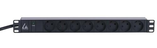 Lanview LVR261871D power distribution unit (PDU) 8 AC outlet(s) 1U Black