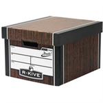 Bankers Box Bankers Box Premium Storage Box Classic FSC Woodgrain [Pack 12] [12 for the price of 10] Ref7250503