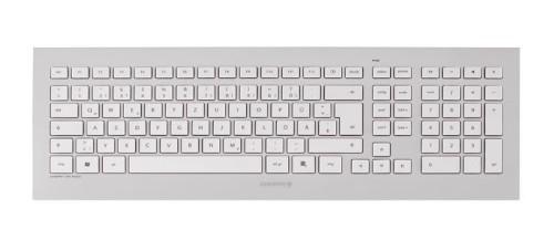 CHERRY DW 8000 keyboard RF Wireless Swiss Silver, White