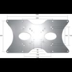 Newstar VESA Conversion Plate from VESA 75x75mm & 100x100mm to 200x100mm, 200x200mm & 400x200mm - Silver