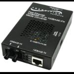 Transition Networks E-100BTX-FX-05(SC) network media converter 100 Mbit/s 1300 nm Multi-mode Black