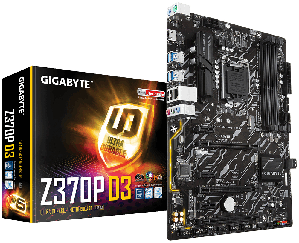 Gigabyte Z370P D3 Intel® Z370 Express LGA 1151 (Socket H4) ATX