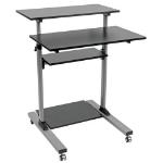 Tripp Lite WWSSRC Rolling Desk TV/Monitor Cart - Height Adjustable
