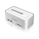 ICY BOX IcyBox Hard Disk Docking Station for SATA HDDs and SSDs with USB 3.0 and a card reader