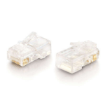 C2G RJ11 4x4 Modular Plug for Flat Stranded Cable wire connector RJ-11 White