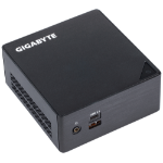 Gigabyte GB-BKi3HA-7100 (rev. 1.0) 2.4GHz i3-7100U 0.6L sized PC Black