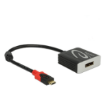 DeLOCK 63312 cable interface/gender adapter USB Type-C Displayport Black