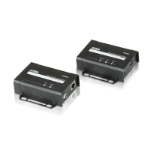 Aten VE801 AV extender AV transmitter & receiver Black