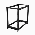 "StarTech.com 18U 19"" Open Frame Server Rack - 4 Post Adjustable Depth 22-40"" Mobile - Free Standing Rolling Network/Computer Equipment Data Rack - Dell PowerEdge HP ProLiant ThinkServer"