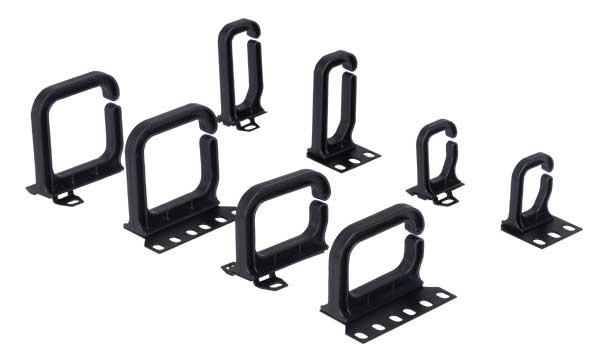 Conteg Plastic cable brackets vertical 80x80 mm