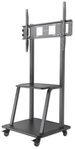 "Manhattan Mobile Monitor Floor Stand, 1 screen, 37-100"", Vesa 200x200 to 800x600mm, Max 150kg, Black"