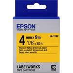 Epson C53S651002 (LK-1YBP) Ribbon, 4mm x 9m