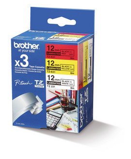 Brother TZE-31M3 P-Touch Ribbon, 12mm x 8m, Pack qty 3