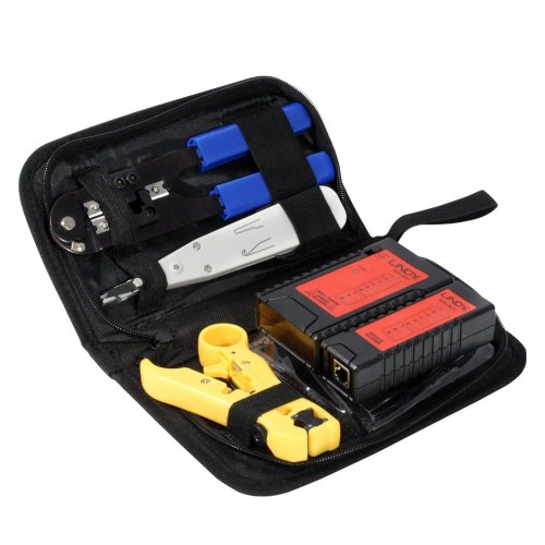 Lindy 43053 network cable tester Optical Loss Test Sets (OLTS) Black, Blue, Red, yellow